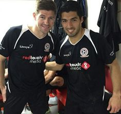 Suarez back at Anfield with Gerrard
