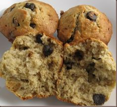Banana Oatmeal Chocolate Chip Muffins  Made these today (2-24) and love the finished muffens.  I used white whole wheat, 1/4 less sugar and a little extra milk since I was using whole wheat.  I threw in a generous cup of chopped walnuts.  The recipe is huge, which makes it great for sharing.
