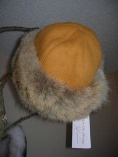 Coyote Fur Trimmed Hat - Wear Our Heritage