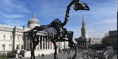 London's new horse statue is a skeletal, riderless horse by Hans Haacke