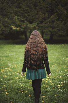 long hair + flowers #flowers #longhair