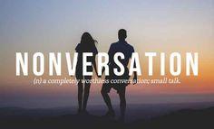 Nonversation..
