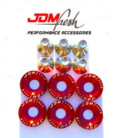 20 PCS  S2 RED FENDER BOLT//WASHER DRESS UP KIT HONDA ACURA CIVIC INTEGRA ACCORD