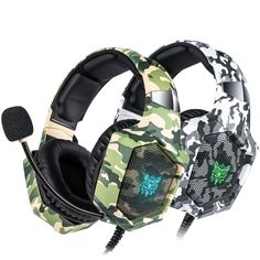 LED Camouflage Gaming Headset Price: $ 45.40 & FREE Shipping #gameaccessories #virtualreality #gamers #simulation #techstyle #gamerlife #xbox #pcgaming #gaminglife #teknokave #smartgadgets #technology Gaming Headset, Gaming Headphones, Headphones With Microphone, Cable, Pc Gamer, Xbox One, Consumer Electronics, Camouflage, Colors
