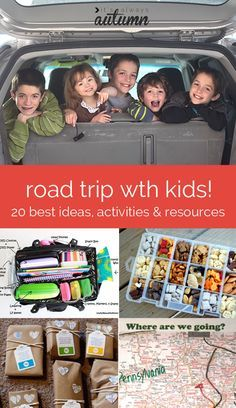 have a #road #trip coming up? Check out this post for links to the very best activities, snacks, and tips for road trips with #kids - find hundreds of ideas all in one place!