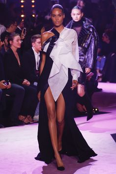 Alexandre Vauthier Fall 2017 Couture Fashion Show - Cindy Bruna (Elite)