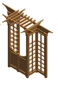garden arbor with gates Possible configuration of BHG structure.