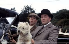 Wooster and Jeeves (Fry and Laurie) with a Westie!