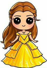 "Image search result for ""easy kawaii character drawing"" Kawaii Girl Drawings, Cute Disney Drawings, Cute Girl Drawing, Cute Drawings, Cartoon Drawings, Cute People Drawings, Draw So Cute People, Belle Drawing, Drawing Disney"