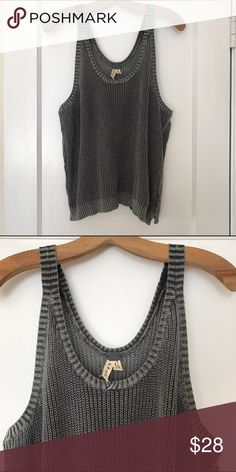 Free People Sweater Tank Light weight Sweater Tank from Free People. Loose fit, cotton, scoop neck. Free People Tops Tank Tops