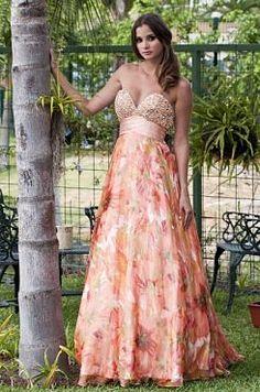 Vestido de Fiesta Estampado Floral dress vestidos by H Couture http//