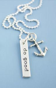 """""""Do Good"""" & anchor necklace"""