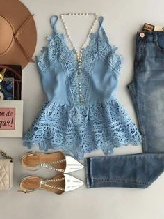 Summer Outfits, Casual Outfits, Cute Outfits, Fashion Outfits, Beach Outfits, Love Fashion, Fashion Looks, Womens Fashion, Inspiration Mode