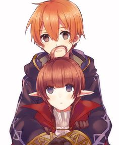 Morgan x Nah  | yes. gaius-child morgan and ricken-child nah!! :) i paired this in my gammeeeee! |
