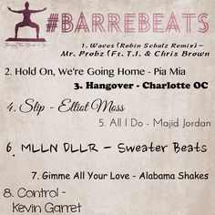A new Barre Beats playlist to get you through your next workout!