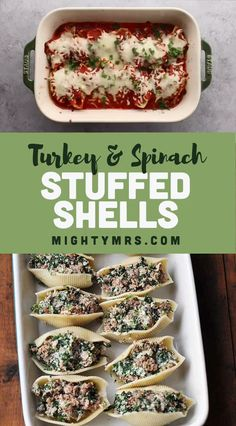Healthy Stuffed Shells with Ground Turkey and Spinach Healthy Stuffed Shells with Ground Turkey and Spinach – These shells are stuffed with veggies and a blend of cheeses including creamy ricotta. Lightened up using. Healthy Stuffed Shells, Spinach Stuffed Shells, Stuffed Shells Recipe, Stuffed Shells Beef, Stuffed Turkey, Healthy Turkey Recipes, Healthy Ground Turkey, Healthy Food, Simple Ground Turkey Recipe
