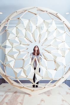 Kinetic Architecture, Folding Architecture, 3d Printing Diy, Wind Sculptures, Parametric Design, Kinetic Art, Cool Patterns, Installation Art, Find Art