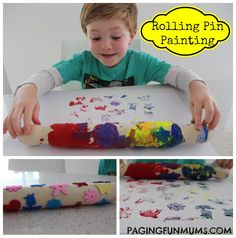 Rolling Pin Painting! An easy & frugal way to get creative in the kitchen!