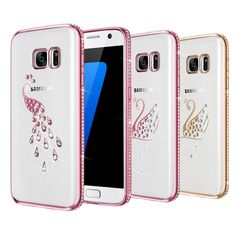 Bling Rhinestone Silicone Case For Samsung Galaxy S7 Coque Luxury Soft TPU Phone Back Cover For Samsung Galaxy S7 Edge Cases