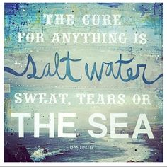 salt water is the cure.