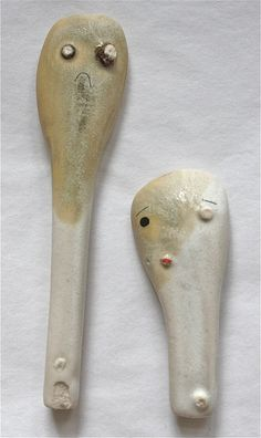 spoons, I have been thinking on making spoons but glazing them might be a problem. I just realized that they can have a tripod leg and be set in a decorative plate were the dripped glaze from glazing can add  decorative aspects.