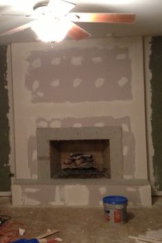 Step 2 Add Cement Board And Drywall Check Local Fire Codes Then Prime The Fireplace