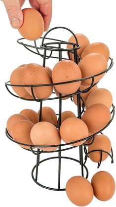 Egg Skelter, National Egg Day, Pasta Drying Rack, Egg Basket, Egg Holder, Specialty Foods, Chickens Backyard, Kitchen Gadgets, Farmers Market
