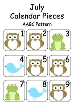 These cute July / Woodland Creature Calendar Pieces are great for your Numeracy Wall and Calendar Math Bulletin Board. Made using the cute illustr. Classroom Displays, Classroom Themes, Teaching Math, Maths, Teaching Ideas, July Calendar, Calendar Numbers, Classroom Calendar, Numeracy