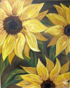 View our painting classes calendar to paint and drink wine in Painting with a Twist in Staten Island NY - New Dorp. Sunflower Canvas Paintings, Acrylic Painting Canvas, Canvas Art, Acrylic Art, Oil Painting Techniques, Sunflower Art, Paint And Sip, Paint Party, Painting Inspiration