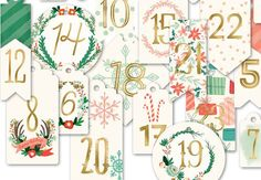 Christmas Advent Calendar Numbers Scrapbooking