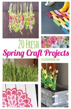 Spring is here and I can't wait to brighten up my home decor with some of these 20 diy Fresh Spring Craft Projects