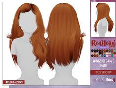 Electric Break: WINGS hair retextured kids versions - All About Hairstyles The Sims 4 Pc, Sims Four, Sims Cc, Sims 4 Game Mods, Sims 4 Mods, The Sims 4 Bebes, Pelo Sims, The Sims 4 Cabelos, Sims 4 Children