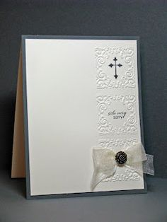 How to use small embossing folders AND no lines :)