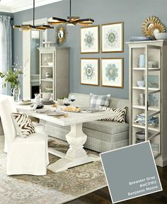 11 Amazing Tricks of How to Craft Living Room Dining Room Paint Ideas Having a Good living room is actually the dream of every individual. By this truth, it's crucial to discuss the Living Room Dining Room Paint Ideas. Ballard Designs, Paint Colors For Living Room, Dining Room Paint Colors Benjamin Moore, Best Dining Room Colors, Great Room Paint Colors, Small Bedroom Paint Colors, Benjamin Moore Kitchen, Office Paint Colors, Home Office Colors
