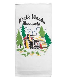Take a look at this North Woods, Minnesota Cabin Dish Towel - Set of Two by Red and White Kitchen Company on #zulily today!