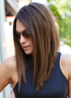 19 Most Fabulous Hairstyles for Women - Great A Line Long Bob Hairstyles 2016: