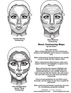 cosplaytutorial: Basic Contouring Tutorial by... | Twinzik Cosplay