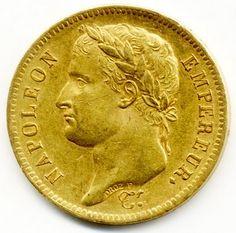 France Napoleon Gold Coin 40 Francs
