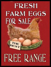 "10 X 16"" FARM FRESH EGGS FOR SALE CHICKEN GATE SIGN!"