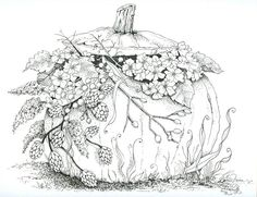 Fall crafts for kids. Want to start Sketching, Drawing, and Creating? **Click the image and get yourself a Pencil-Drawing Set. Pumpkin Coloring Pages, Fall Coloring Pages, Halloween Coloring Pages, Coloring Books, Colorful Drawings, Colorful Pictures, Coloring Pages For Grown Ups, Printable Adult Coloring Pages, Zentangle