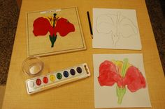 Flower Puzzle - Children trace puzzle and then use water colors to paint their picture. Montessori Practical Life, Montessori Preschool, Preschool Art, Teaching Geography, Teaching History, History Education, Fungi, School Science Experiments, Parts Of A Flower