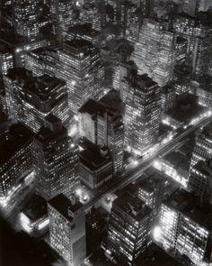 New York City at night, 1932