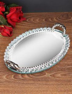 HERA - Franco Oval Tepsi Aynalı Gümüş
