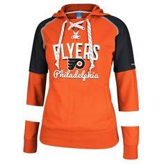 Women's Philadelphia Flyers Reebok Orange/Black Core Pullover Hoodie - On MY Christmas list! I WANT!!!
