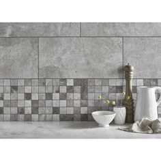 Toscana Mixed Mosaic from Tile Mountain only per tile or per sqm. Order a free cut sample, dispatched today - receive your tiles tomorrow Kitchen Wall Tiles, Wall And Floor Tiles, Clean Grout Lines, Annex Ideas, Silver Walls, Small Tiles, Grout Cleaner, Mosaic Tiles, Flooring