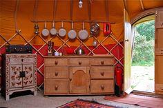 Yurt Interiors | 18ft Oakwood yurt interior