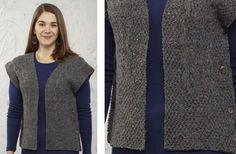 Veronica Ruana Knitted Vest [FREE Knitting Pattern]