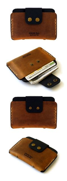 So clever use a small cell phone case to hide your cash and credit cards.  Nice solution to a wallet also.