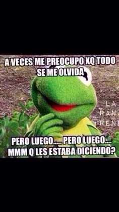 Rana Rene Kermit the Frog Funny Poems, Funny Quotes, Mexican Problems, Spanish Jokes, Frases Humor, I Love To Laugh, Kermit, Funny Cartoons, Love