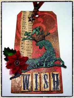 """day 10"" -tim holtz(c) 2008supplies: craft sheet, perfect pearls/heirloom gold, green patina, scissors (tonic),distress re-inker/vintage photo, distress ink/fired brick, aged mahogany, an..."